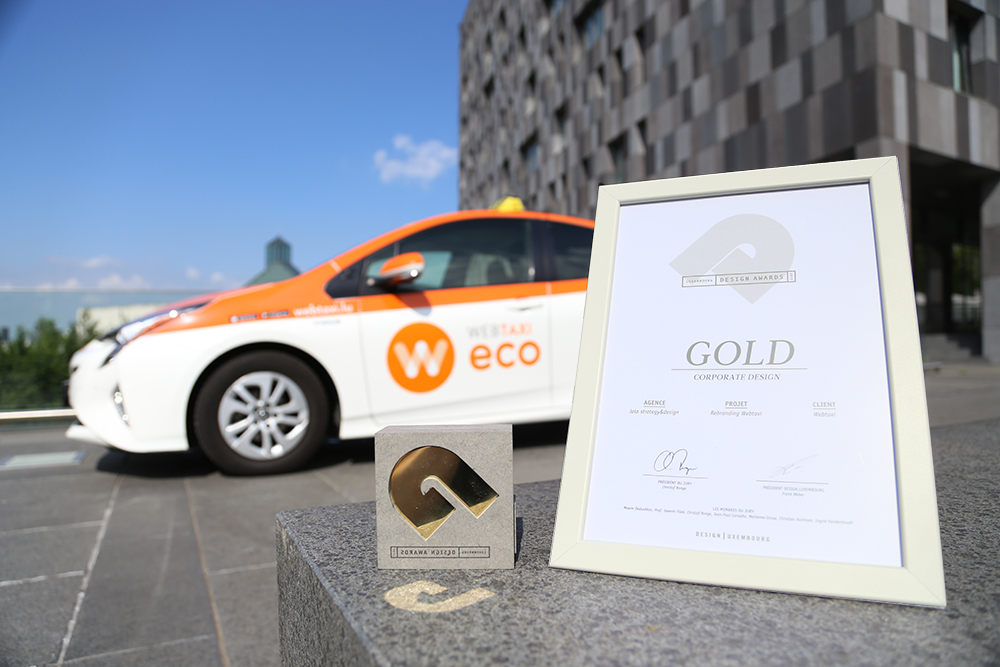 The price GOLD in the category Corporate Design goes to WEBTAXI